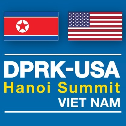 The official logo of the DPRK-USA Summit in Vietnam 首脳会談の公式ロゴ