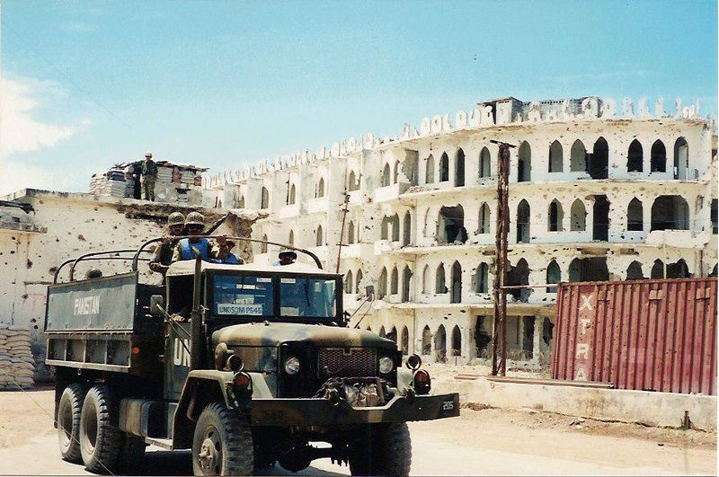 Pakistan armed convoy in Mogadishu United Nations Operation in Somalia  From Wikimedia Commons